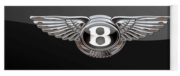 Bentley - 3d Badge On Black Yoga Mat