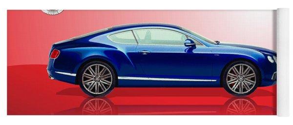 Bentley Continental Gt With 3d Badge Yoga Mat