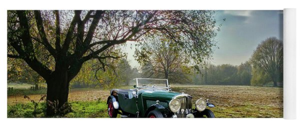 Yoga Mat featuring the photograph Bentley On A Country Road by Ericamaxine Price