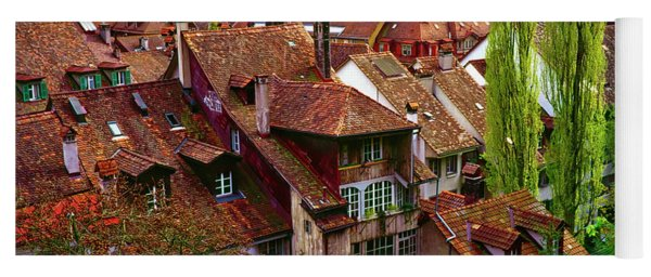 Bern Switzerland Roof Tops  3460600120 Yoga Mat