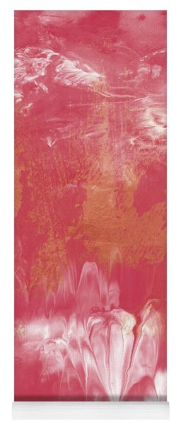 Berry And Gold- Abstract Art By Linda Woods Yoga Mat