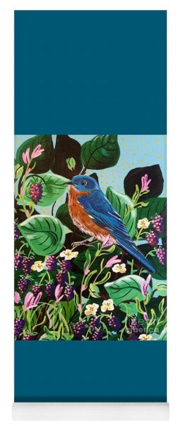 Berry Bluebird Yoga Mat