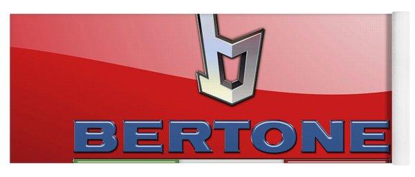 Bertone 3 D Badge On Red Yoga Mat