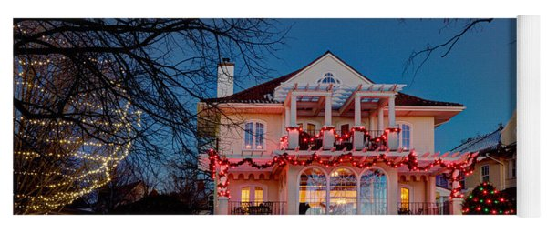 Best Christmas Lights Lake Of The Isles Minneapolis Yoga Mat
