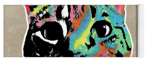 Best Listener Kitty- Pop Art By Linda Woods Yoga Mat