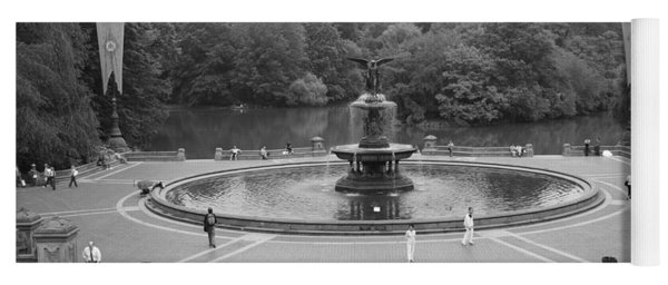 Bethesda Fountain Central Park New York Yoga Mat
