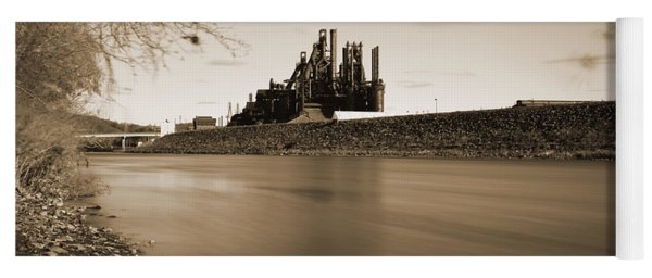 Bethlehem Steel Along The Lehigh Yoga Mat