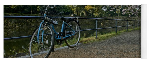 Bicycle And Tokyo Imperial Palace Yoga Mat