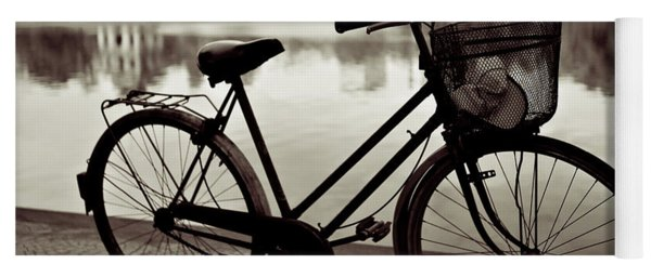 Bicycle By The Lake Yoga Mat