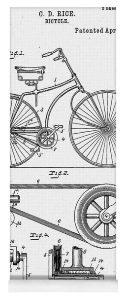 Bicycle Patent 1890 Yoga Mat