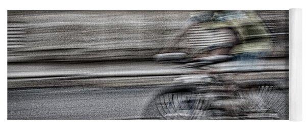 Bicycle Rider Abstract Yoga Mat