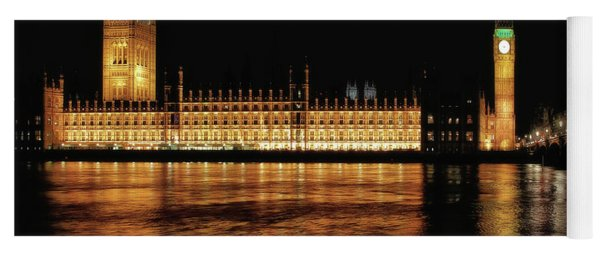 Big Ben And The Palace Of Westminster At Night Yoga Mat