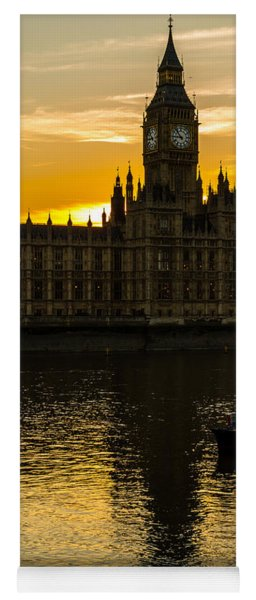 Big Ben Tower Golden Hour In London Yoga Mat