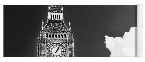 Big Ben Tower London Bw Yoga Mat
