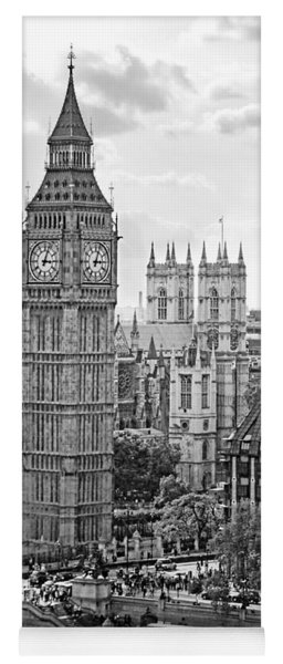 Big Ben With Westminster Abbey Yoga Mat