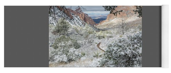 Big Bend Window With Snow Yoga Mat