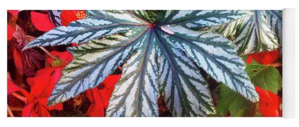 Big Bold Exotic Leaves Yoga Mat