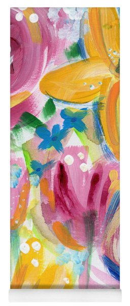 Big Colorful Flowers - Art By Linda Woods Yoga Mat