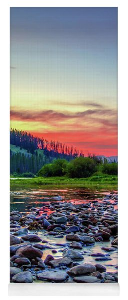 Big Hole River Sunset Yoga Mat