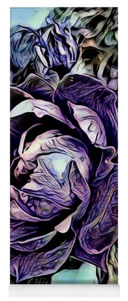 Big Purple Rose Yoga Mat