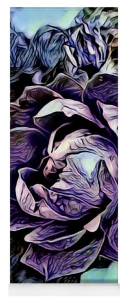 Big Purple Rose Yoga Mat