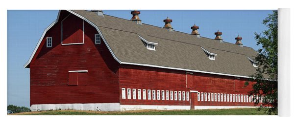 Big Red Barn In Spring Yoga Mat