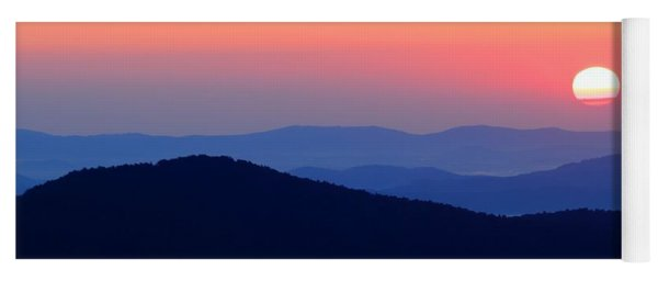 Big Sunrise Off Blue Ridge Parkway Yoga Mat