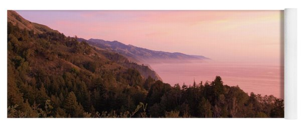 Yoga Mat featuring the photograph Big Sur Sunset by Eyes4Nature