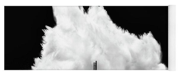 Big Wave Breaking On Breakwater Yoga Mat