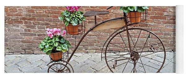 Bike Art - Siena, Italy Yoga Mat