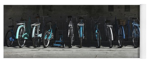 Bike Rack Blues Yoga Mat