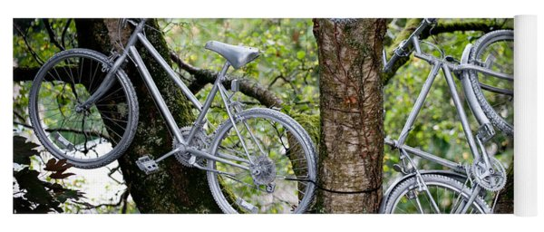Bikes In A Tree Yoga Mat