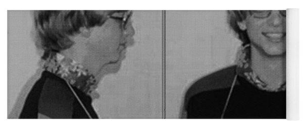 Bill Gates Mug Shot Horizontal Black And White Yoga Mat