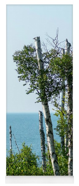Birch And Lake Superior Yoga Mat