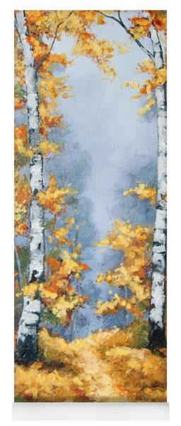 Birch Forest Path Yoga Mat