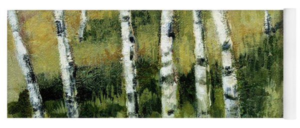 Birches On A Hill Yoga Mat