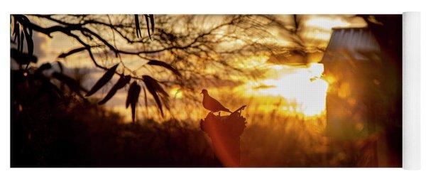 Bird At Sunset Color Yoga Mat