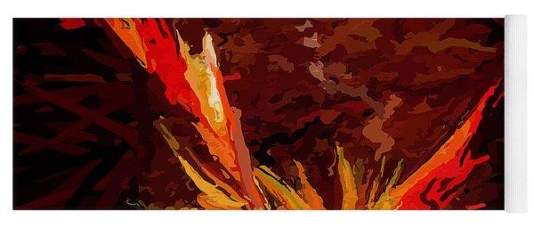 Exploding Bird Of Paradise Flower  Yoga Mat