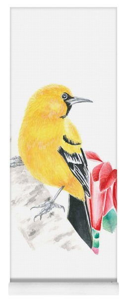 Bird In Yellow Yoga Mat