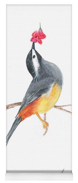 Minimal Bird And Flower Yoga Mat