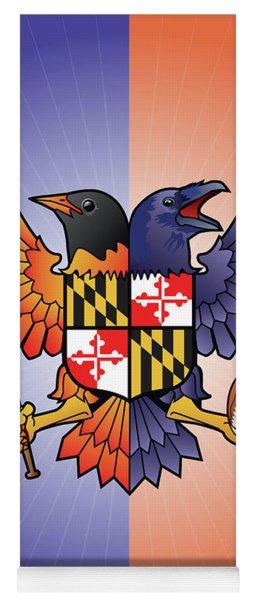 Birdland Baltimore Raven And Oriole Maryland Crest Yoga Mat