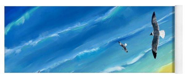 Bird's-eye Above Sea Yoga Mat