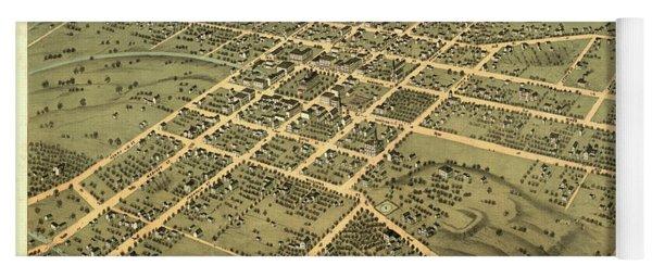 Bird's Eye View Of The City Of Huntsville, Madison County, Alabama 1871 Yoga Mat