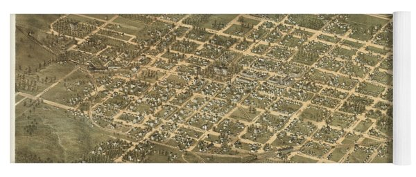 Bird's Eye View Of The City Of Raleigh, North Carolina 1872 Yoga Mat