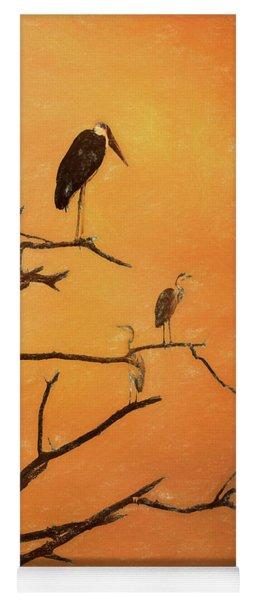 Birds In An African Sunset Yoga Mat