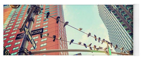 Birds In New York City Yoga Mat