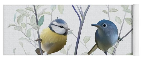 Birds In Tree Yoga Mat