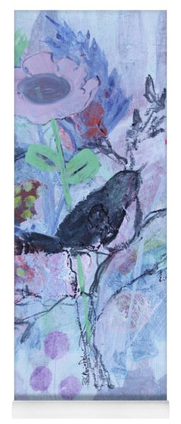 Yoga Mat featuring the painting Birds Just Wanna Have Fun by Robin Maria Pedrero