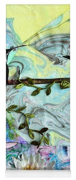 Birds Singing Above White Heron - Bgbsa Yoga Mat