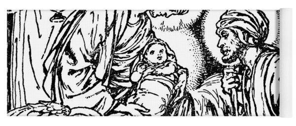 Birth Of Jesus  Nativity Scene In The New Testament Yoga Mat